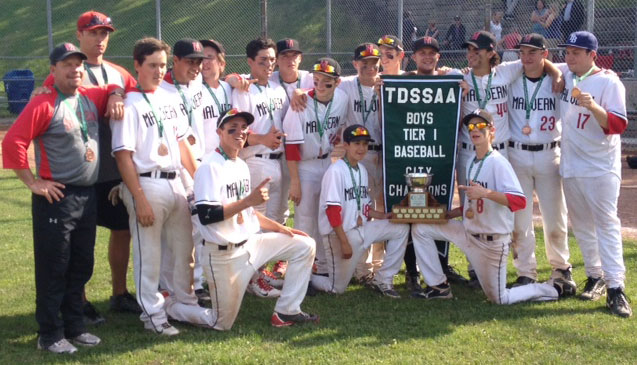 Malvern Boys Baseball team win city championship in 2014.